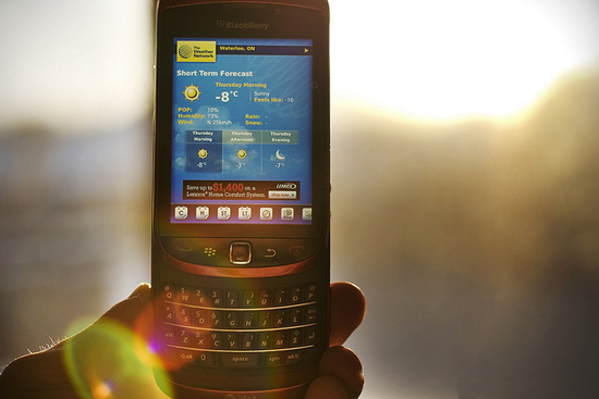 BlackBerry Weather Apps